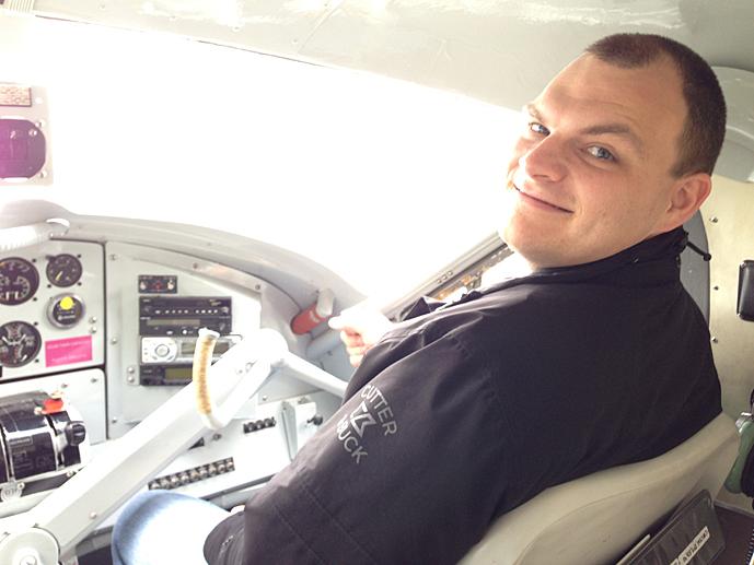 Josh as co-pilot